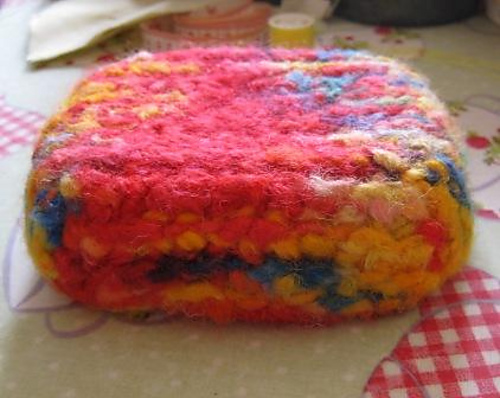 Felted Trinket Box Base