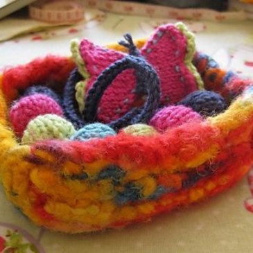 Felted Trinket Box Pattern/Tutorial
