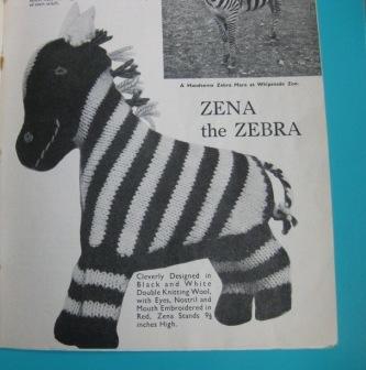 Vintage Pattern Zebra