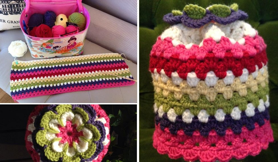 Barbara's Fruit Salad Themed Blanket WIP and Hat. Aren't they lovely?!