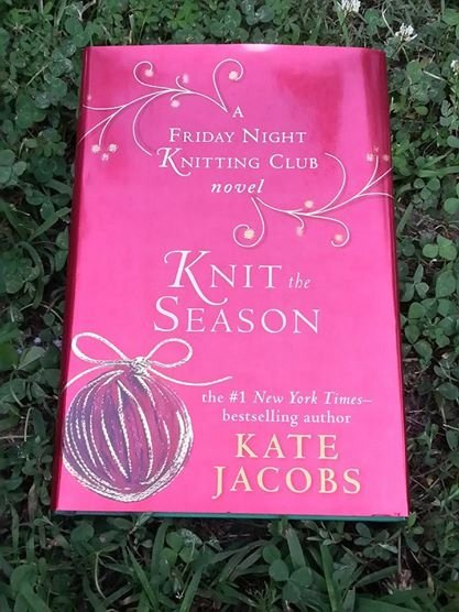 Along with the yarn in the bag Tracy gave me, was this book by Kate Jacobs.