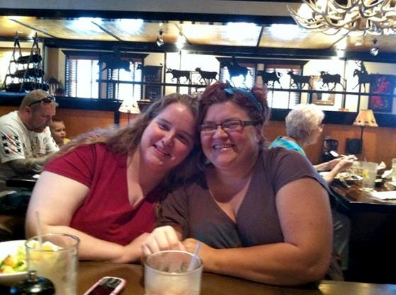 Tracy and me at Longhorn Steakhouse in Chattanooga, Tennessee.