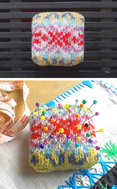 Peerie Pin Cushion collage