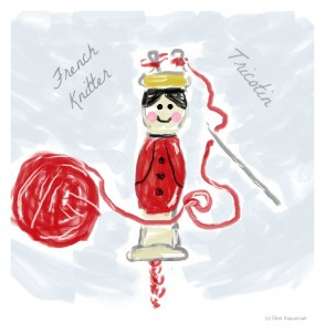 French Knitter drawing