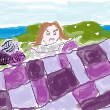 Knit's my Life: The Purple Patchwork Blanket