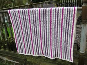 Acrylic crochet blanket