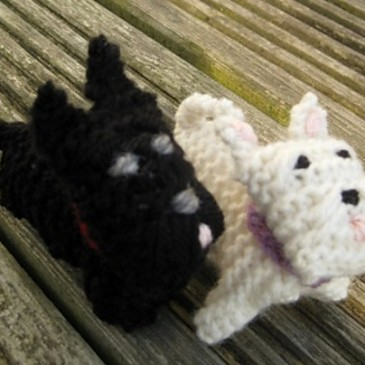 Wee Westie and Wee Scottie Dogs Pattern