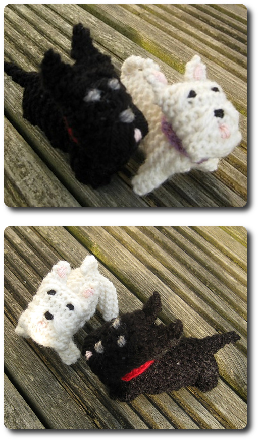 Wee Westie and Wee Scottie Dogs Pattern StitchGeek