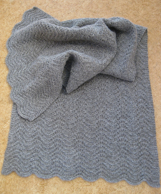 grey ripple shawl